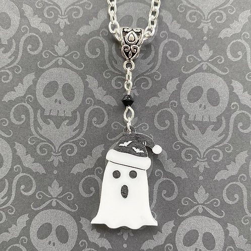 Gothic Singing Ghost Necklace -New