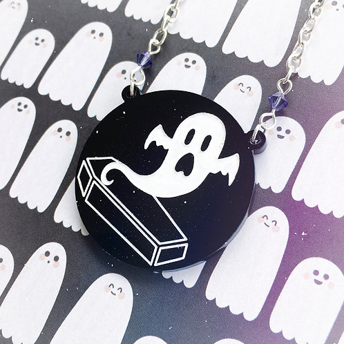 Subscription Box Special - Gothic Ghost Coffin Necklace