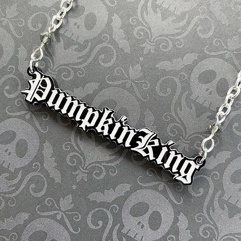 Gothic 'Pumpkin King' Necklace