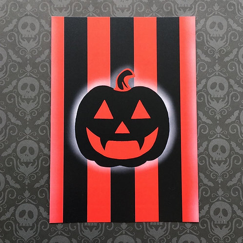 Gothic Pumpkin Print (Red)