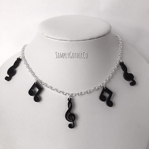 Limited Edition - Treble Clef and Note Statement Necklace