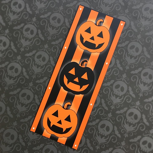 Gothic Pumpkin Stack Bookmark