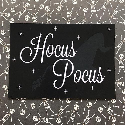 Gothic 'Hocus Pocus' Art Print (White)