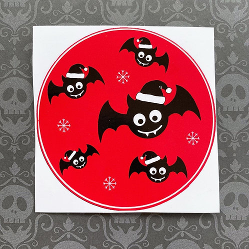 Gothic Festive Bats Sticker