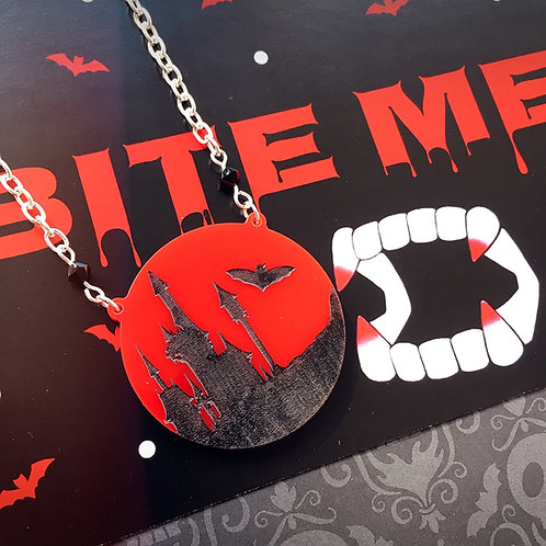 Gothic Dracula's Castle Necklace
