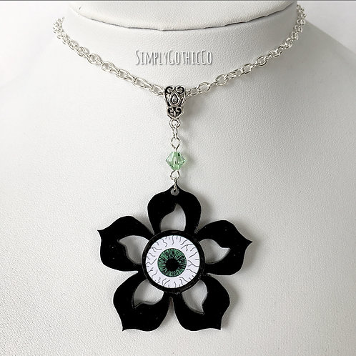 Subscription Box Special - Gothic Eye Flower Necklace