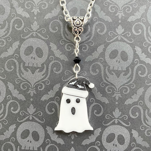 Gothic Singing Christmas Ghost Necklace - older style