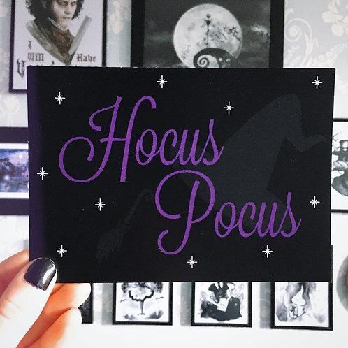 Gothic 'Hocus Pocus' Art Print (Purple)
