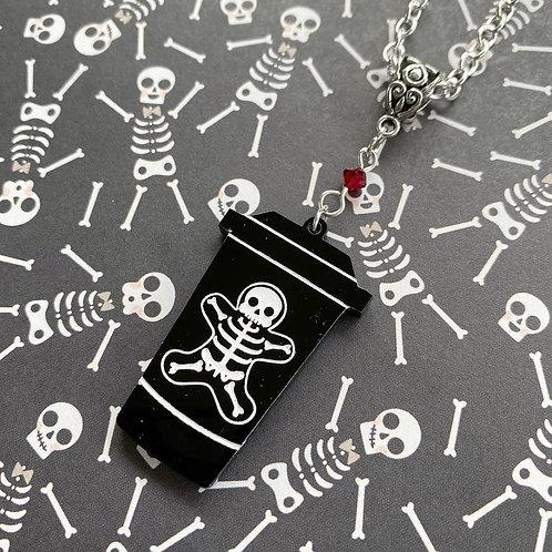 Gothic Gingerbread Bones Latte Necklace