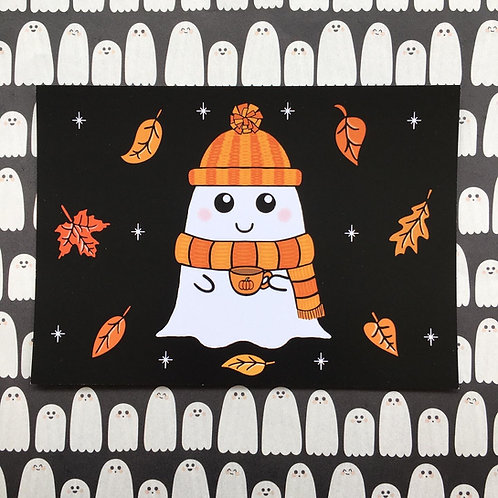 Gothic Cosy Ghost Print