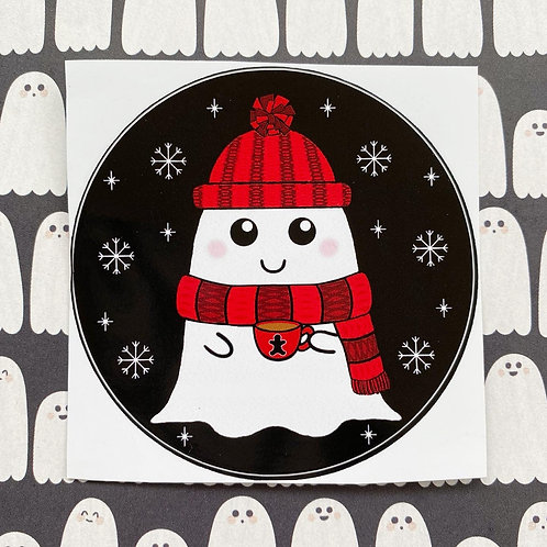 Gothic Winter Cosy Ghost Sticker