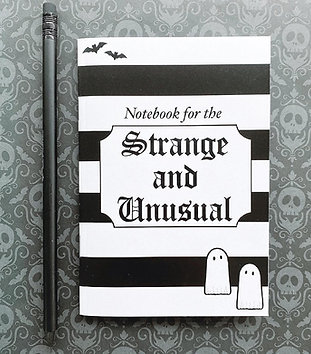 Gothic 'Strange and Unusual' Notebook