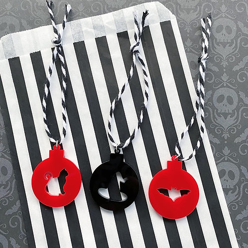 Gothic Set of 3 Tree Decorations - Limited