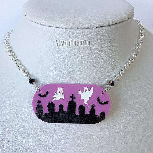 Gothic 'Creepy Cute' Graveyard Necklace