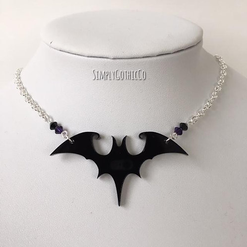 Gothic Tim Burton-inspired Bat Necklace