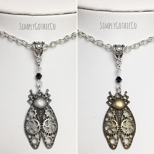Gothic Steampunk Beetle Necklace - one of each Available
