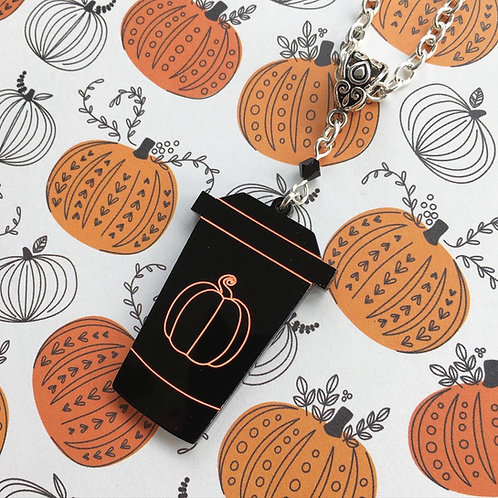 Gothic Pumpkin Spice Latte Necklace