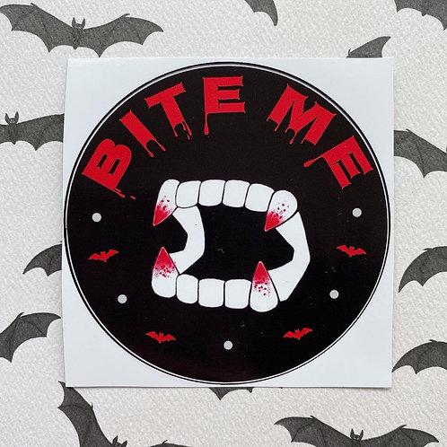 Gothic 'Bite Me' Vampire Sticker