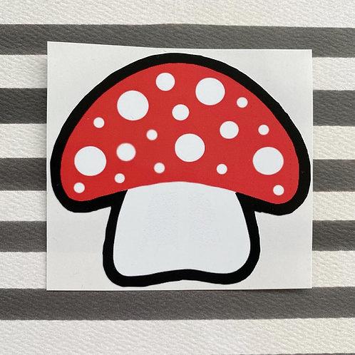 Gothic Toadstool Sticker