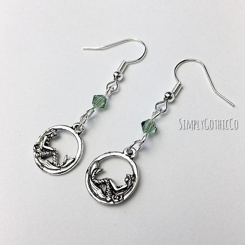 Gothic Mini Mermaid Hoop Earrings - 1 LEFT!!!
