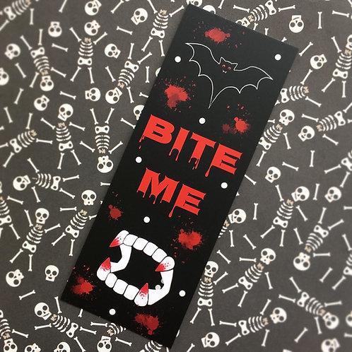 Gothic 'Bite Me' Bookmark