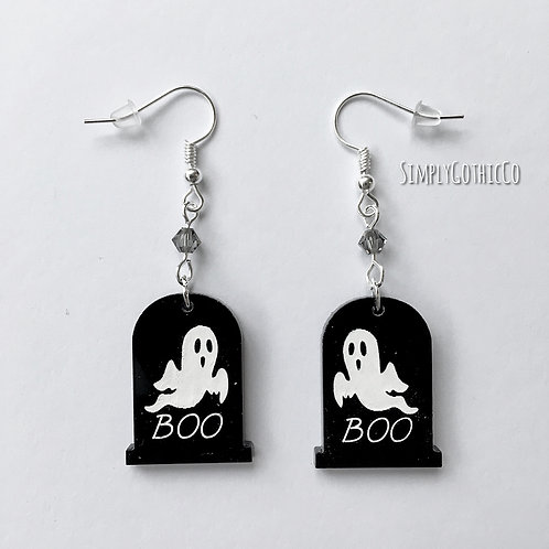 Gothic Ghostly Gravestone Earrings