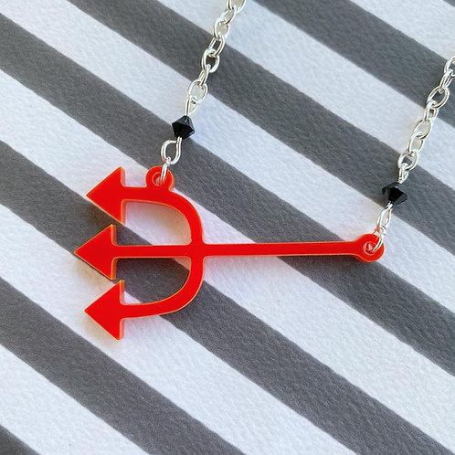 Gothic Devil's Pitchfork Necklace
