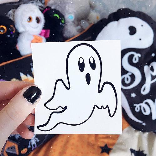 Spooky Spirit Ghost Vinyl Sticker
