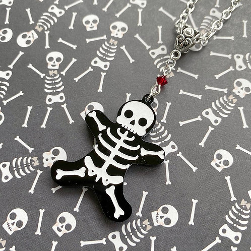 Gothic Skelly-Breadman Necklace