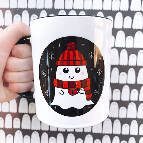 SECONDS £7 - Gothic Cosy Winter Ghost Mug