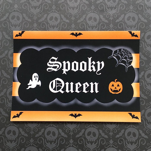 Gothic 'Spooky Queen' Print