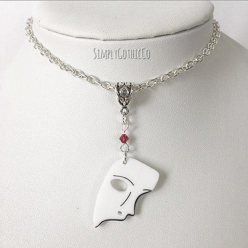 Gothic Phantom Mask Necklace