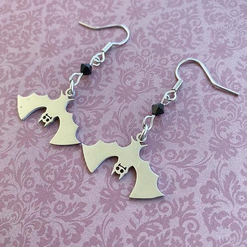 Gothic Vamp Bat Earrings
