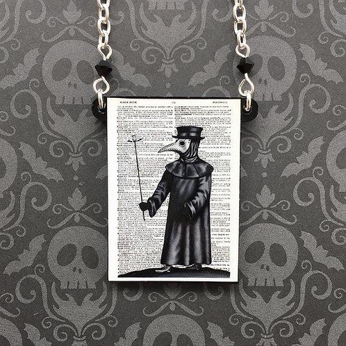 Gothic Black Death Necklace
