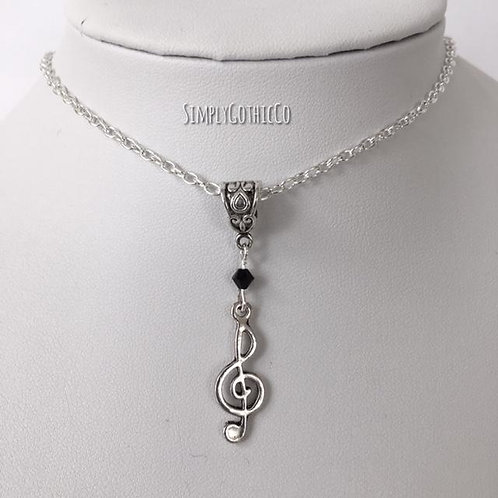 Limited Edition - Metal Treble Clef Necklace