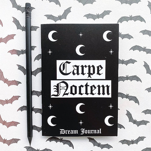 Gothic 'Carpe Noctem' Dream Journal Notebook