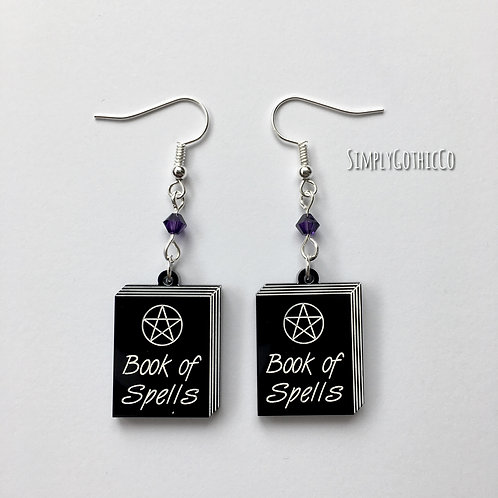 Gothic Book of Spells Earrings