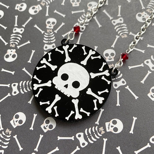 Gothic Skull-Flake Necklace