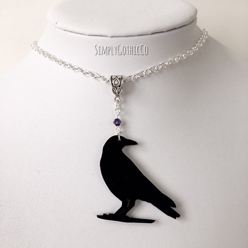 Subscription Box Special - Gothic Crow Necklace