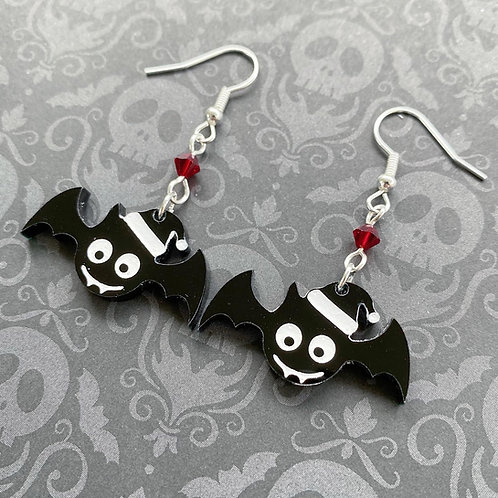 Sub Box - Gothic Festive Bat Earrings