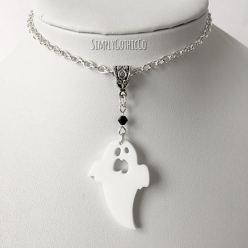 Gothic Spooky Ghost Necklace