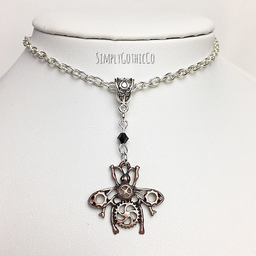 Gothic Steampunk Insect Necklace