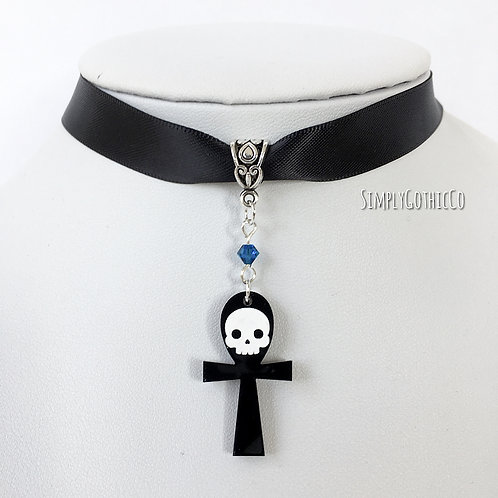 Subscription Box Special - Gothic Skull Ankh Choker