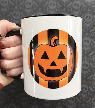Gothic 'Trick Or Treat' Pumpkin Mug