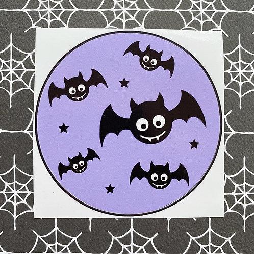 Gothic Baby Bats Purple Sticker