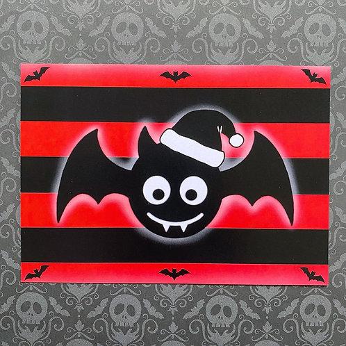Gothic Festive Bat Art Print