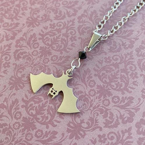 Gothic Vamp Bat Necklace