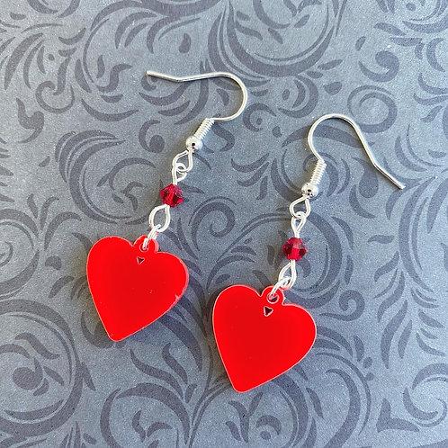 Gothic Mini Heart Earrings