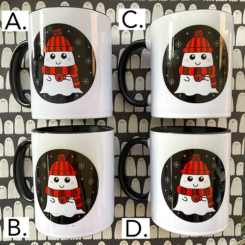 SECONDS £5 - Gothic Cosy Winter Ghost Mug