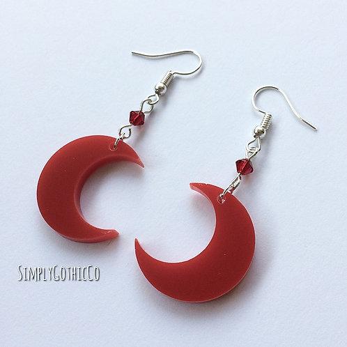 Gothic Blood Moon Earrings